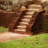 Średniowieczny kamienny schody Sri Lanka Zdjęcie Royalty Free