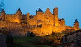 Średniowieczny kasztel Carcassonne Fotografia Stock