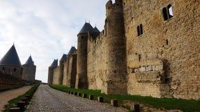 Średniowieczny kasztel Carcassonne, Francja Zdjęcie Royalty Free