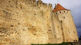 Średniowieczny kasztel Carcassonne, Francja Obrazy Royalty Free