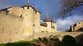 Średniowieczny kasztel Carcassonne, Francja Obrazy Stock