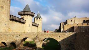 Średniowieczny kasztel Carcassonne, Francja Zdjęcia Royalty Free
