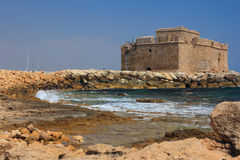 Średniowieczny kasztel Paphos Obrazy Royalty Free