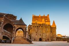 Średniowieczny kasztel Vitre Brittany, Francja Zdjęcia Stock