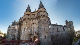 Średniowieczny kasztel Vitre Brittany, Francja Zdjęcia Royalty Free