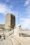 Średniowieczny kasztel w Linhares da Beira Dziejowej wiosce Obraz Stock