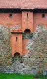 Średniowieczny klozet w Trakai kasztelu, Lithuania Obrazy Stock