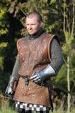 Średniowieczny kordzika wojownik Zdjęcie Stock
