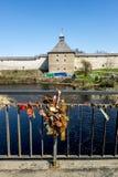 średniowieczny Ladoga forteczny staraya Rosja Obraz Royalty Free