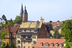 Średniowieczny miasteczko Altenburg, Thuringia Fotografia Royalty Free
