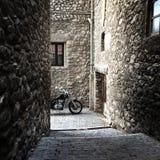 Średniowieczny miasteczko Baga w Catalonia Zdjęcie Stock