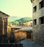 Średniowieczny miasteczko Baga w Catalonia Obrazy Stock
