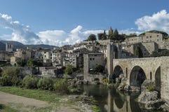 Średniowieczny miasteczko Besalu Fotografia Royalty Free
