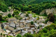 Średniowieczny miasteczko Durbuy, Wallony, Beligium Zdjęcie Stock