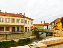 Średniowieczny miasteczko Eger Obraz Stock