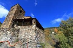 Średniowieczny miasteczko Os De Civis, Hiszpania Zdjęcie Stock