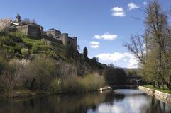 Średniowieczny miasteczko Puebla De Sanabria, Zamora prowincja, Obraz Royalty Free