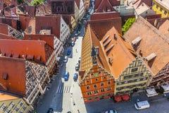 Średniowieczny miasto Dinkelsbuehl w Niemcy Obraz Royalty Free