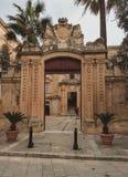 Średniowieczny miasto Medina w Malta Zdjęcie Stock