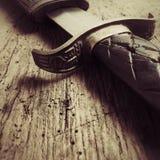 średniowieczny miecz Zdjęcia Stock