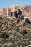 Średniowieczny moorish forteczny Alcazaba w Almeria, Andalusia, Hiszpania Fotografia Stock