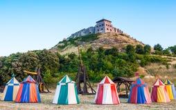 średniowieczny namiot Zdjęcie Stock
