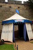 średniowieczny namiot Fotografia Royalty Free