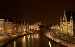 średniowieczny nighttime Fotografia Royalty Free