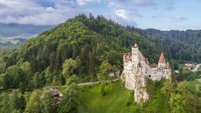 ?redniowieczny otr?by kasztel Brasov Transylvania, Rumunia obraz royalty free