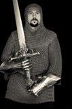 Średniowieczny rycerz z kordzikiem Zdjęcia Royalty Free