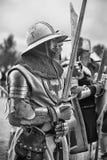 Średniowieczny rycerza opancerzenie Fotografia Royalty Free