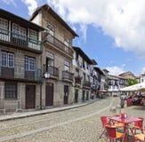 Średniowieczny Santiago kwadrat, Guimaraes, Portugalia Zdjęcia Royalty Free