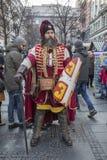 Średniowieczny serbian rycerz Fotografia Stock