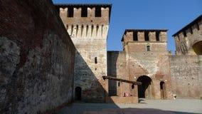 Średniowieczny Sforzesco kasztel Zdjęcie Royalty Free