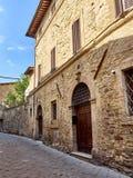 średniowieczny stary miasteczko Zdjęcie Stock