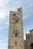 Średniowieczny wierza z mullioned, od erice Obraz Royalty Free