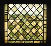 Średniowieczny witrażu okno Zdjęcia Stock
