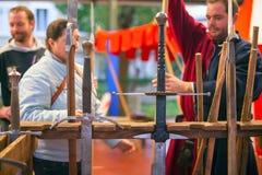 średniowiecznych miecze Obrazy Stock