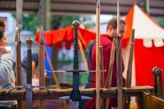 średniowiecznych miecze Zdjęcie Royalty Free