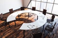Redonda branco reunião ilustração do vetor