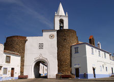Redondo. Portugal Alentejo Region Redondo historical center and medieval city gate and wall Royalty Free Stock Image