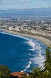 Redondo Beach. Aerial view of waves breaking on Redondo beach, Los Angeles County, California, U.S.A Royalty Free Stock Photography