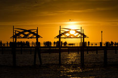 Redondo Beach Pier Sunset Royalty Free Stock Images