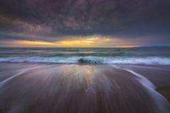 Redondo Beach solnedgång royaltyfri fotografi