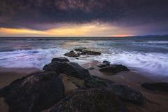 Redondo Beach solnedgång Royaltyfria Foton