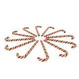 Redondo de los bastones de caramelo Imágenes de archivo libres de regalías