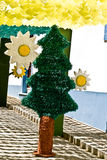 REDONDO, PORTUGAL -10 AUGUST 2013. Festival flower  in streets i Royalty Free Stock Images