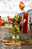 REDONDO, PORTUGAL -10 AUGUST 2013. Festival flower  in streets i Stock Image