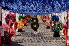 REDONDO, PORTUGAL -10 IM AUGUST 2013. Festivalblume in den Straßen I Stockfotografie