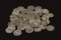 Redondos del lingote de plata foto de archivo libre de regalías